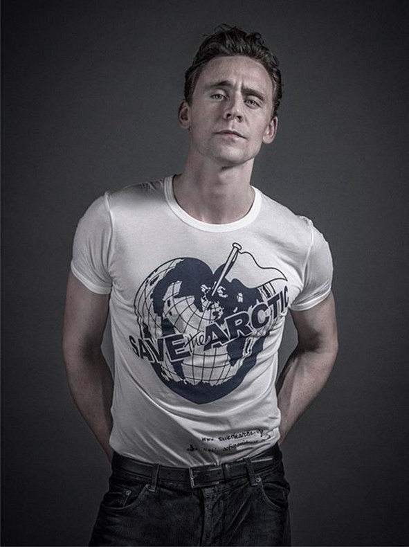 Tom Hiddleston por Andy Gotts. Greenpeace, Save the Arctic / Vía elleuk.com