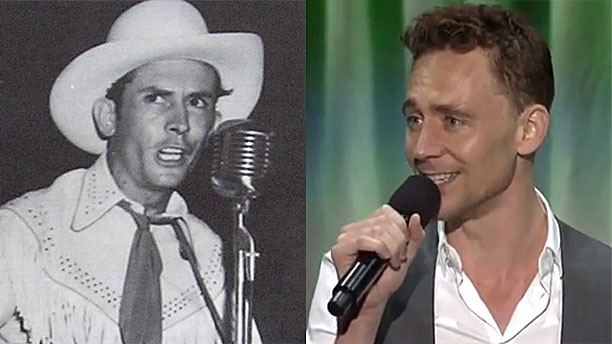 Hank Williams y Tom Hiddleston