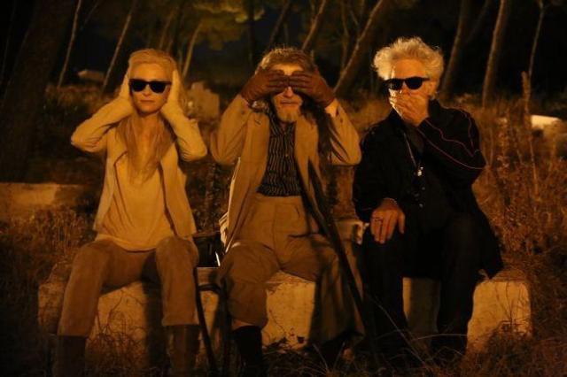 Swinton, Hurt y Jarmusch en el set de 'Sólo los amantes sobreviven'
