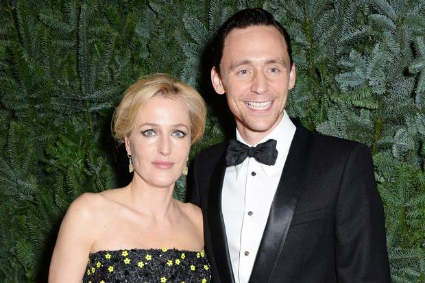 Winners: Gillian Anderson and Tom Hiddleston (Picture: Dave Benett)