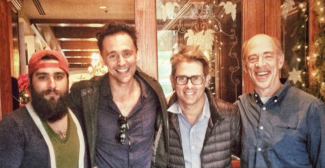 Jordan Vogt-Roberts, Tom Hiddleston, John Gatins y J.K. Simmons / Foto: Instagram voteroberts