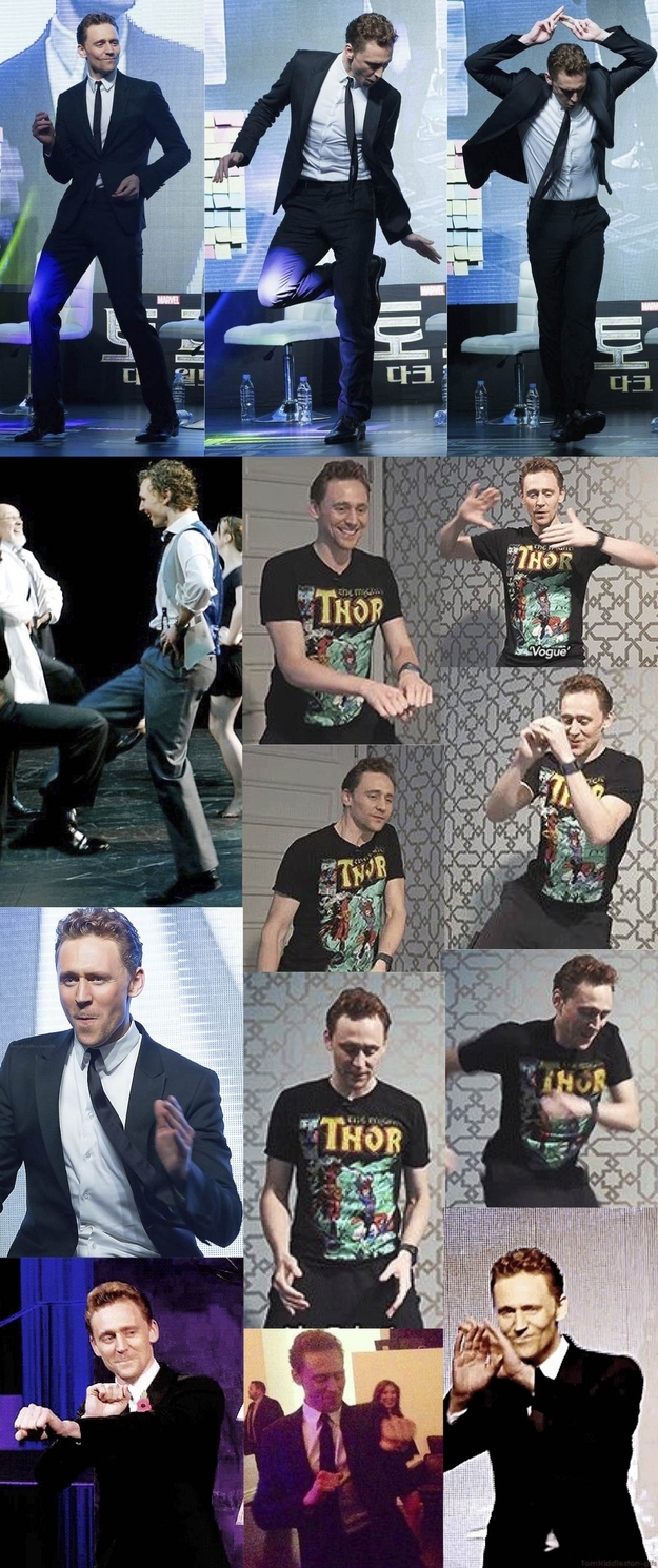 10. Hiddles dances around