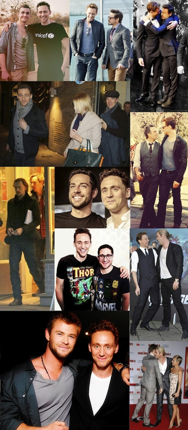 15. Hiddles Loves A Good Bromance