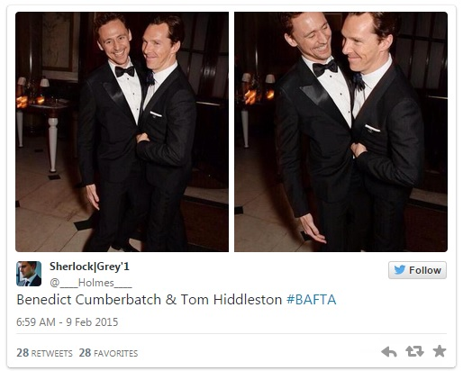 Benedict Cumberbatch y Tom Hiddleston #BAFTA