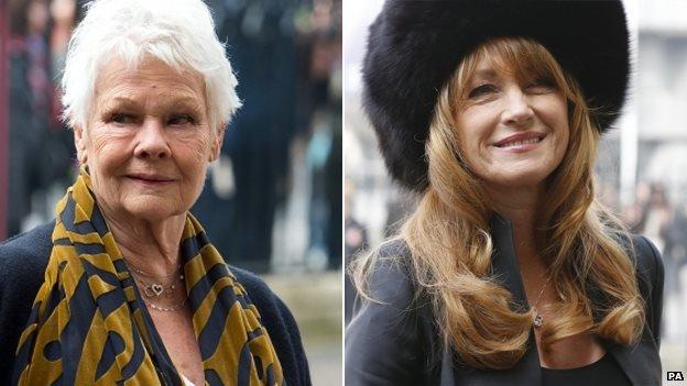 La Dama Judi Dench y Jane Seymour también presentaron sus respetos