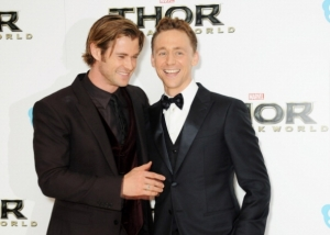 (Credit: Dave M. Benett/Getty Images) LONDON, ENGLAND - OCTOBER 22: Chris Hemsworth (L) and Tom Hiddleston attend the World Premiere of 'Thor: The Dark World' at Odeon Leicester Square on October 22, 2013 in London, England. Read more: http://www.vcpost.com/articles/74677/20150616/thor-3-ragnarok-news-tom-hiddleston-teases-fans-what-expect.htm#ixzz3dwnHoXjy