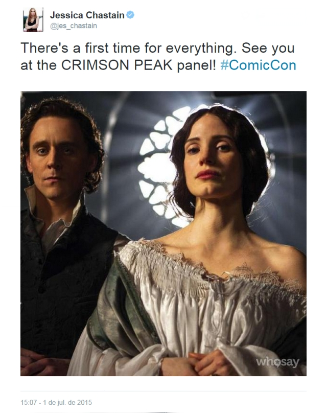 Hay una primera vez para todo. ¡Nos vemos en el panel de CRIMSON PEAK! #ComicCon